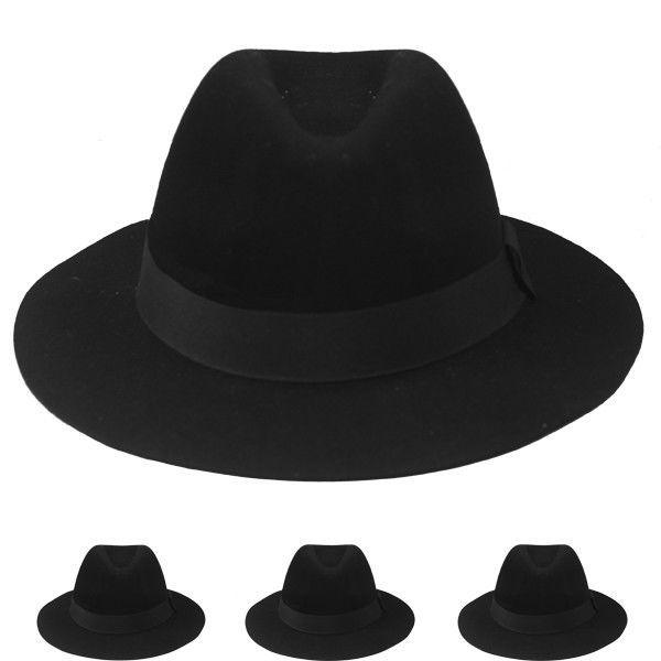 8f7426c0202de5 WHOLE SALE WINTER HAT VINTAGE BLACK WOMEN Hat Formal CAP %100 WOOL  CHRISTMAS GIF #