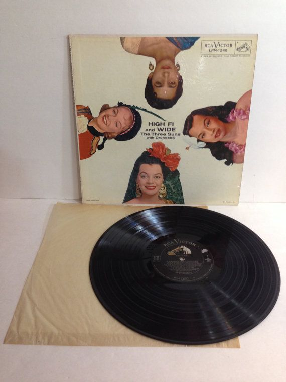 The Three Suns High Fi and Wide with Orchestra Vintage Vinyl Record Album lp 1956 RCA Victor Records LPM 1249 by NostalgiaRocks