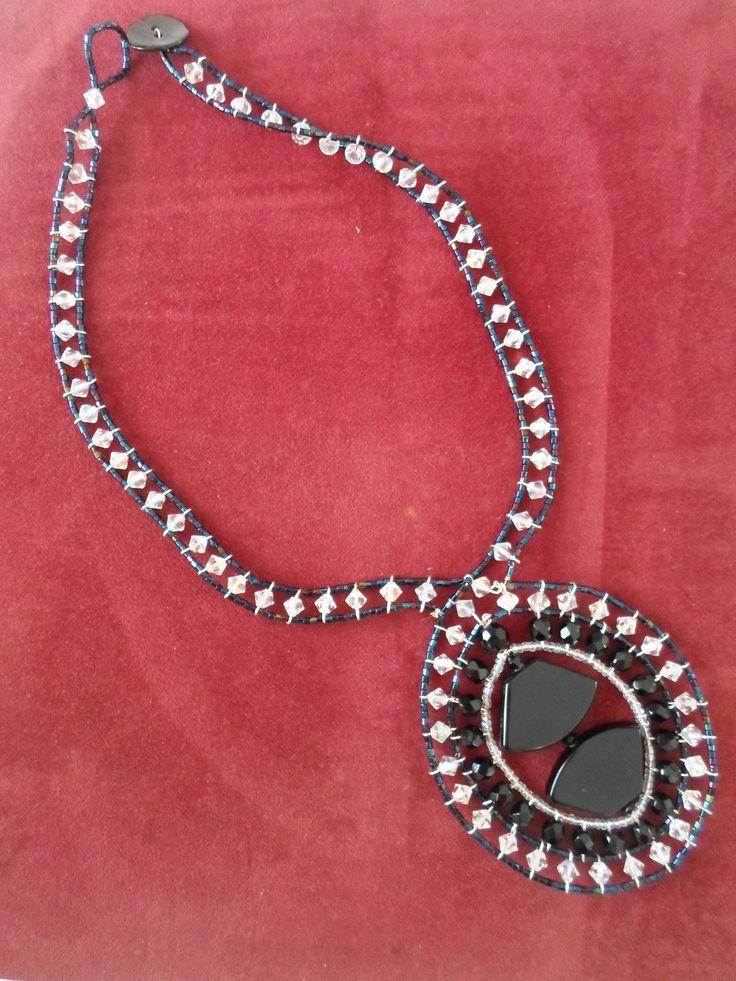 Handmade Ebony Stone Choker Necklace