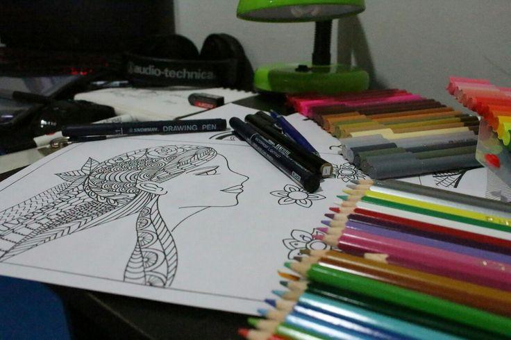 Doodle without colour