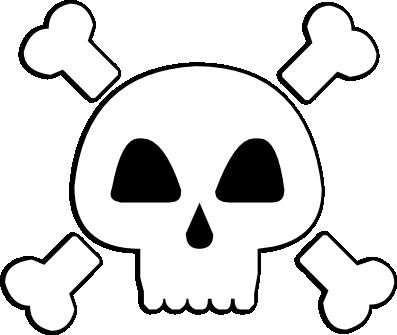 FREE SVG skull and crossbones pirate poison warning