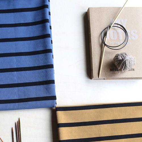 Stripe College, Nutmeg - Black | NOSH Women Autumn 2016 Fabric Collection is now available at en.nosh.fi | NOSH Women syysmalliston 2016 uutuuskankaat saatavilla verkosta nosh.fi