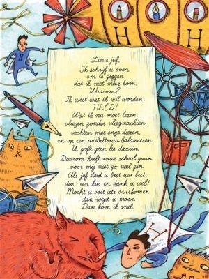 Aan de muur - Poëzieposters - poëzieposter met gedicht Lieve juf van Linda Vogelesang
