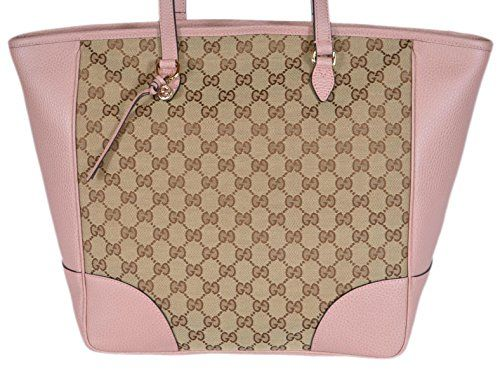 b3f089a60cc3 Gucci Women s Large Bree GG Guccissima Purse Handbag Tote (Beige Pink)    Cute Tote Bags by Crystal   Pinterest