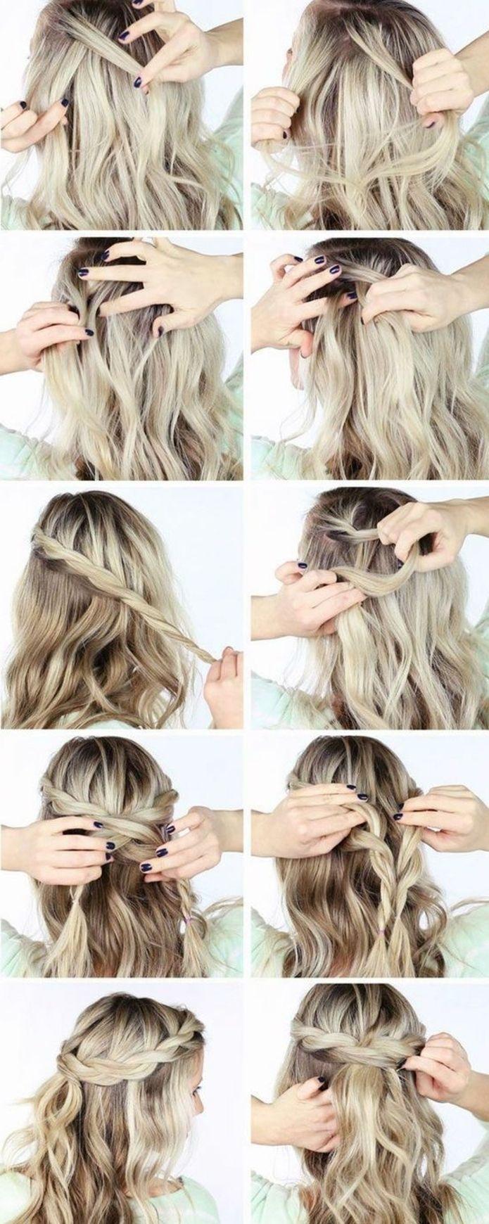 1001+ idées de coiffure avec une tresse collée + les