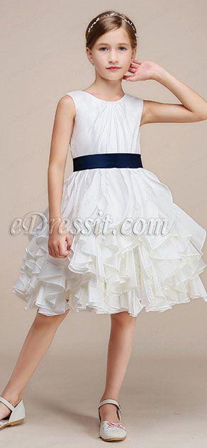 d3ebd841e Simple Classic Princess Wedding Flower Girl Dress (28191107) | eDressit | Flower  Girl Dress | Flower girl dresses, Wedding flower girl dresses, Princess ...