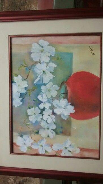 Flores en acrilico