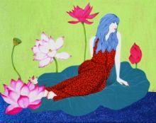 Spring-blooming peony time/Kim Mi-sook - ARTMUSEE::KOREAN ARTIST PLATFORM