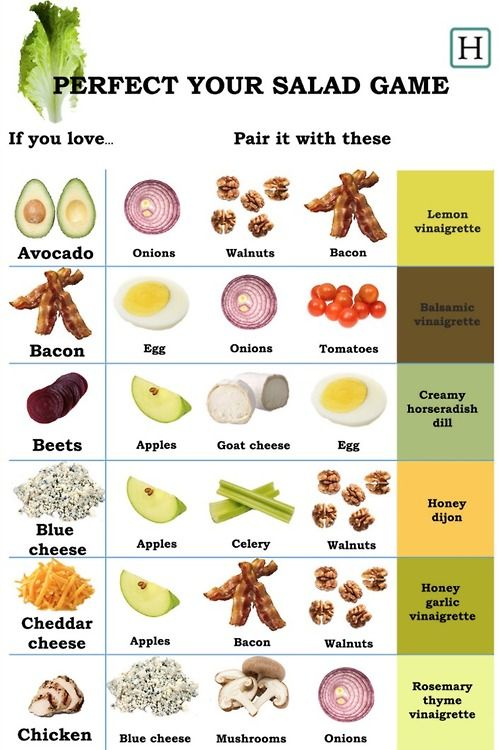 How to pair you salad.