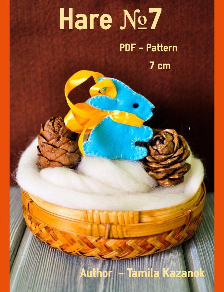 Bunny Instant Download Easy Sewing PDF Pattern/ DIY Felt Bunny/ Stuffed Toy Animal/ Bunny Softie by Tamilashki on Etsy