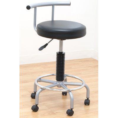 Offex Futura Height Adjustable Stool with Dual Wheel