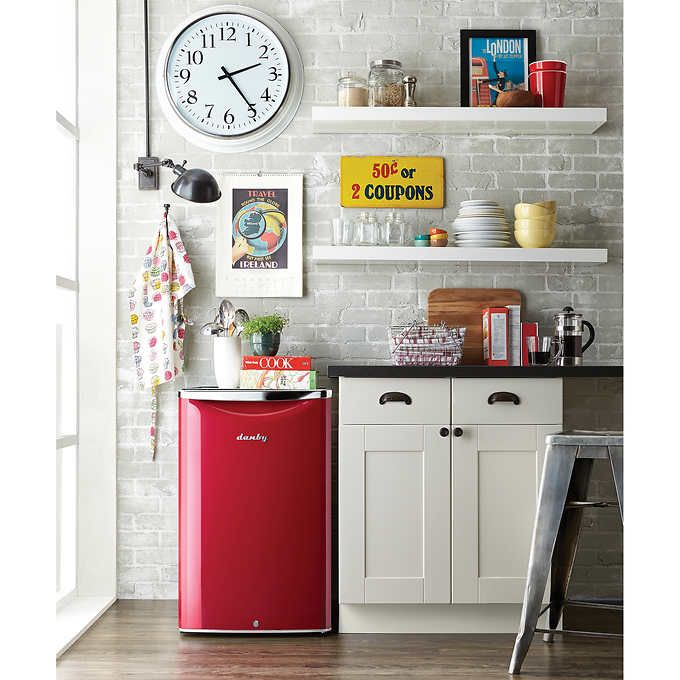 Danby Contemporary Classic </br>4.4 cu. ft. Red All Refrigerator