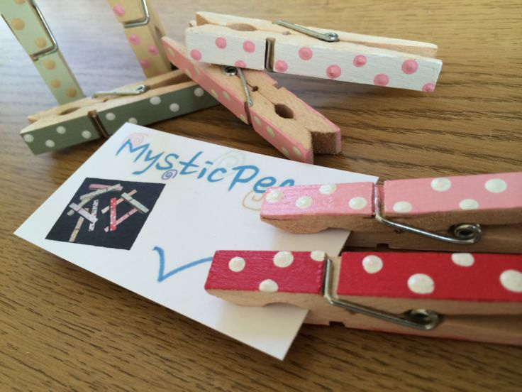 Varnished HandPainted Polka Dot Wooden Clothes Peg  by MysticPeg, £4.00