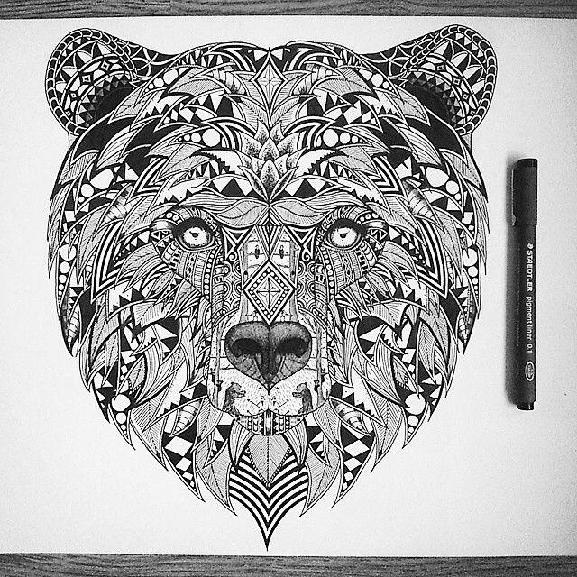 This is too great! So amazing! from @tobiasillustrations  #wildlife #art #design #illustration #illustrator #zentangle #drawing #ink #linework #penwork #patternwork #blackonwhite #blackart #bearart #grizzly #bear #cubs #breakingbear #nawden #penkingdom #instadraw #iblackwork #blxckink #graphity_arts #art_worldly #art__overdose_ #artfido #artist_features #instartlovers #zentanglemandala_comp #art_worldly.