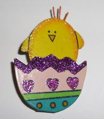 Easter Egg With Baby Chick Pin