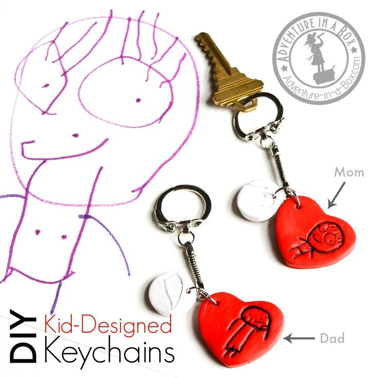 DIY Kid-Designed Keychains: Make personalized keychains with family portraits…