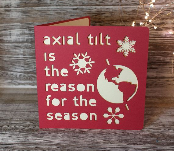 A Christmas card for those who do not celebrate the religious reasons for the season...  It measures 5 square and comes with a cream coloured