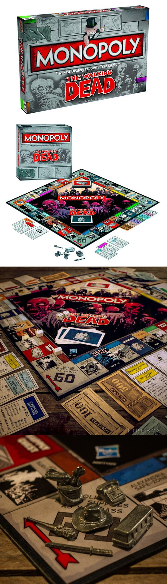 Un #monopoly para los amantes de The Walking Dead como nosotros! - The Walking Dead monopoly  #Regalos #Frikis #TheWalkingDead #Geek #Gifts