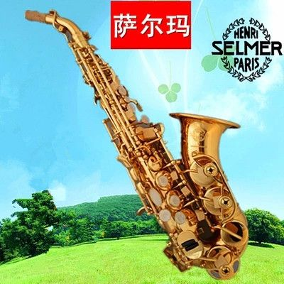 2017 Hot selling Selmer Curved Saxophone BB High Tone Bell B Curved Soprano Sax saxofone  Musical Instrument for adults Children