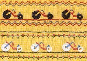 Hand-smocked insert for child's garment