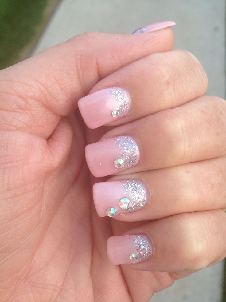 LCN - Forever in love mixed with pretty pink and lilac. Looooove these nails