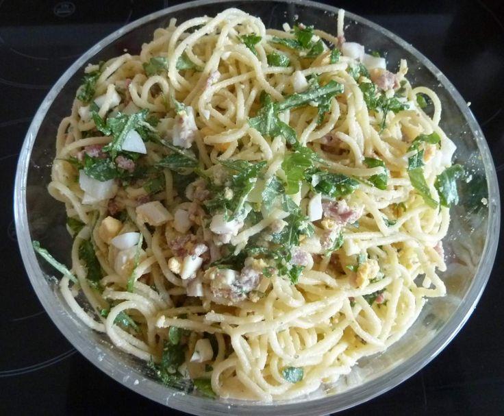 Rezept Spaghetti-Salat Carbonara von mkraus - Rezept der Kategorie Vorspeisen/Salate