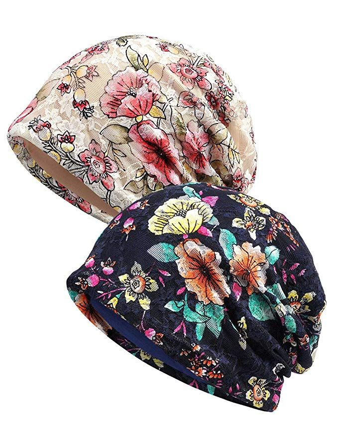 f151b632d404f Women s Lace Chemo Hat Beanie Scarf