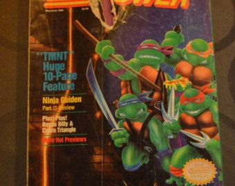 Vintage Game Players Nintendo Guide, Featuring The Teenage Mutant Ninga Turtles, Collectible and Rare, Gaming, Nintendo, Video Games,