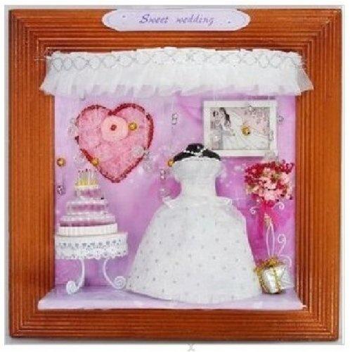 """Originelle Geschenkidee: 3D Holz-Wandbild DEKO-Kreativset (Bastelset) """"Sweet Wedding"""" als originelles Geschenk für Verliebte zur Verlobung - Hochzeit von Hongda, http://www.amazon.de/gp/product/B008YGH640/ref=cm_sw_r_pi_alp_z-w3qb1CCSRV3"""