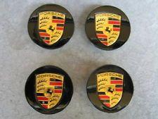New OEM Porsche Wheel Black Center Caps Gold Crest 911 Boxster Cayman