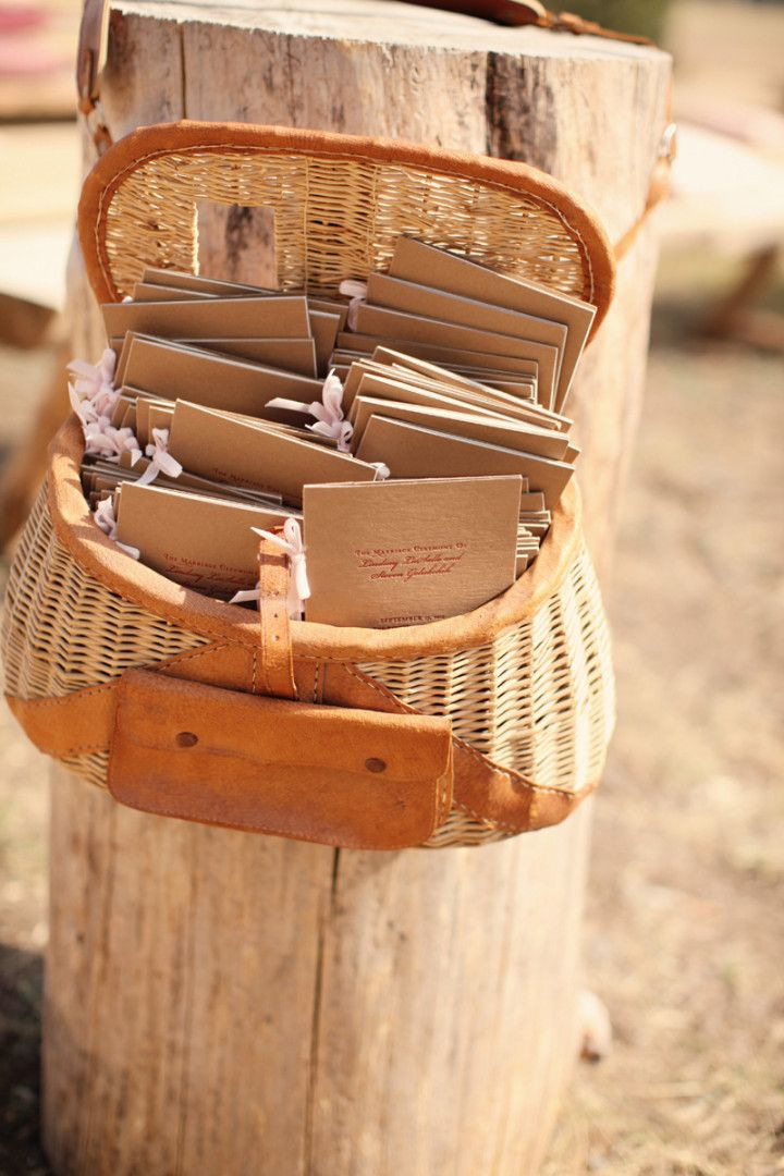 Rustic Chic Montana Wedding Michele M. Waite  - wedding ceremony program idea