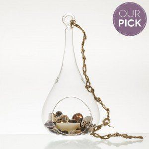 Bondi Beach Hanging Glass & Shell Candle Set