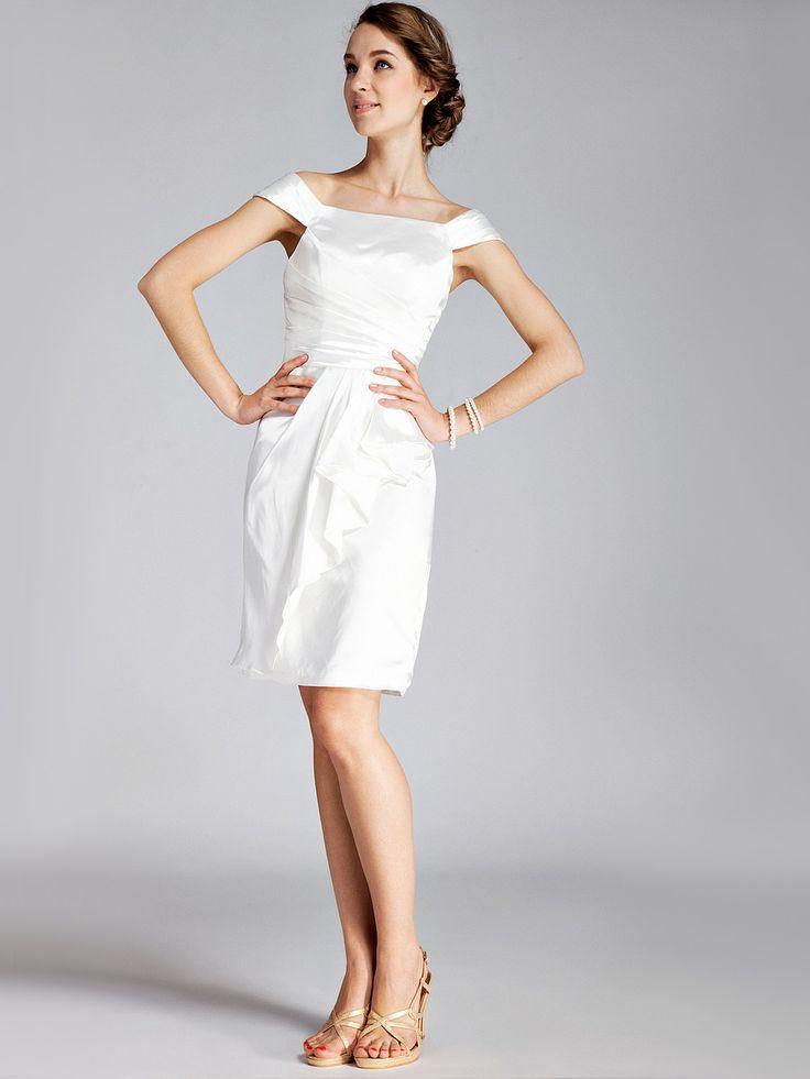 Classic Boatneck Little White Dress