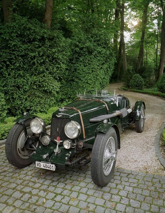 An Aston Martin 1.5 litre in green… Less attractive, I fear.