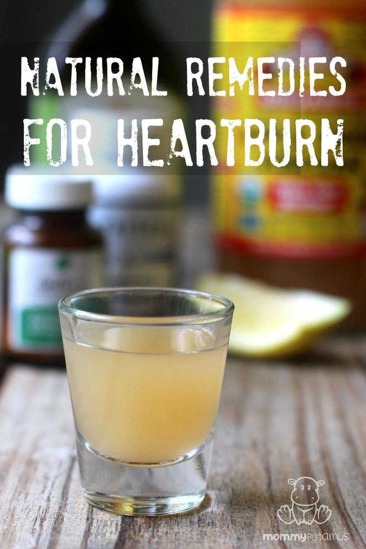 how to get rid of heartburn without medicine