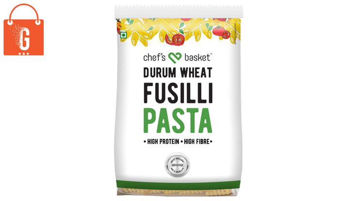 Features Turkish pasta, High in protein, high in fibre & No maida.  Free delivery on ALL orders: Amazon Prime  Buy Chef's Basket Durum Wheat Pasta 500gm: Penne | Fusilli | More Grocery & Gourmet Foods
