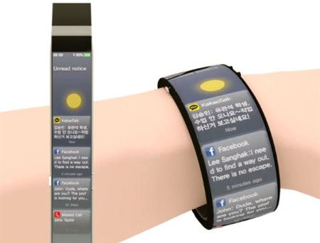 The Watch-Me smart watch is a concept of how future watches may look like - full-body screen, multi-touch operation, and real time environment display.
