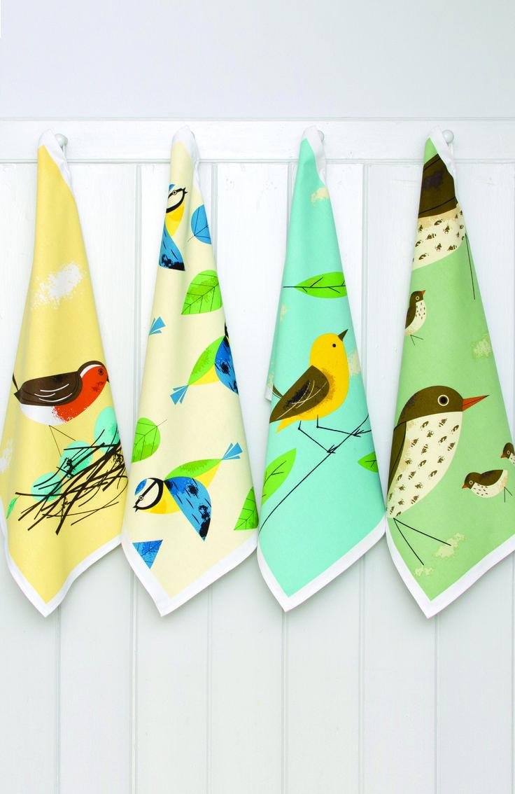 Birdy Keukenhanddoeken (2 sets)