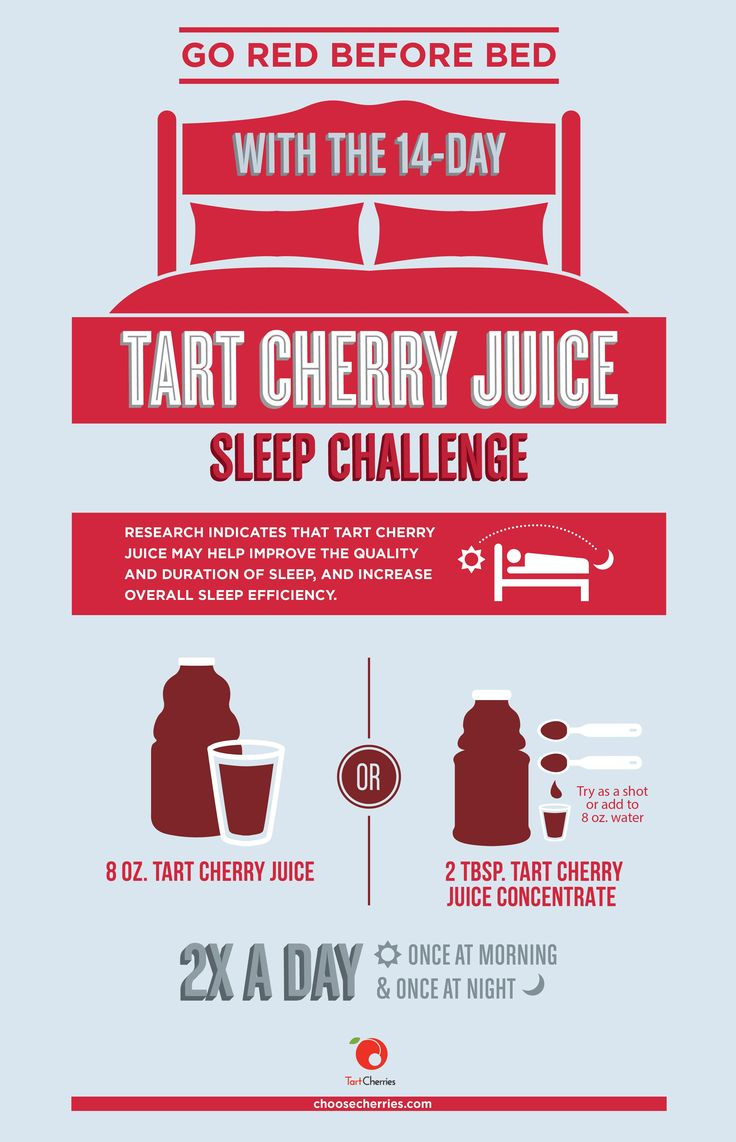 Take the 14-day Tart Cherry #Sleep Challenge! Two servings of tart cherries - once in the morning and once at night - may help you sleep more efficiently.