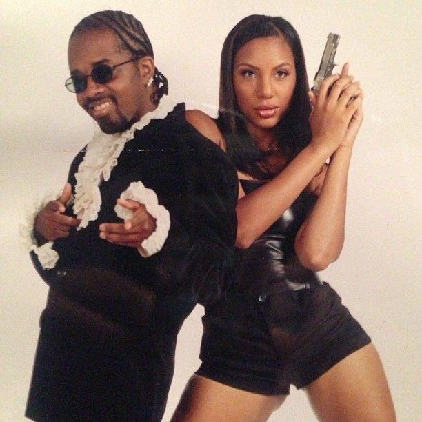 """"""" Jermaine Dupri & Tamar Braxton pose like Austin Powers & Foxy Cleopatra! """""""