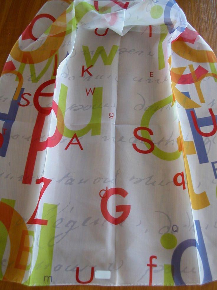 Színes betű mintás gyerek voile fényáteresztő függöny ...