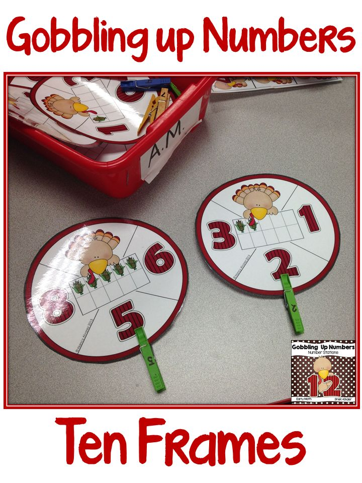 PreK and Kindergarten math stations.  Ten frames, number sets, counting and number writing practice from 0-10.