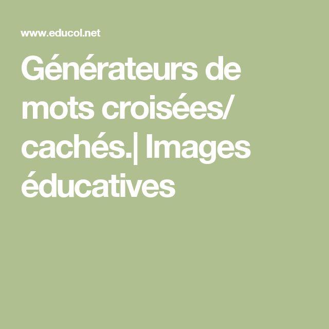 Générateurs de mots croisées/ cachés.  Images éducatives