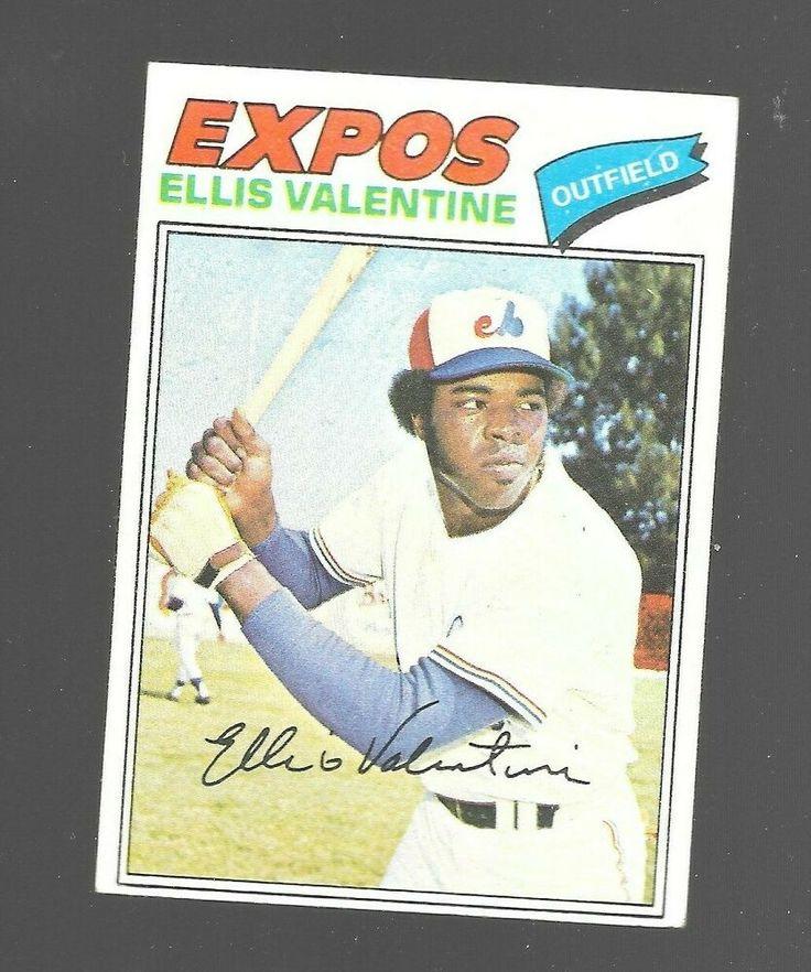 1977 Topps Ellis Valentine 52 Montreal Expos Baseball Card