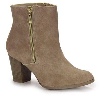 Ankle Boots Feminina Via Marte - Bege