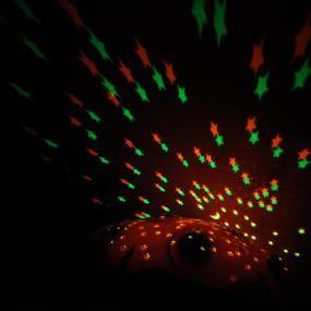 Coccinella di peluches  proietta stelle con musica (T06)