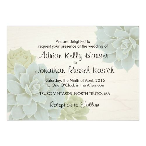367 best Succulent Wedding Invitations images on Pinterest