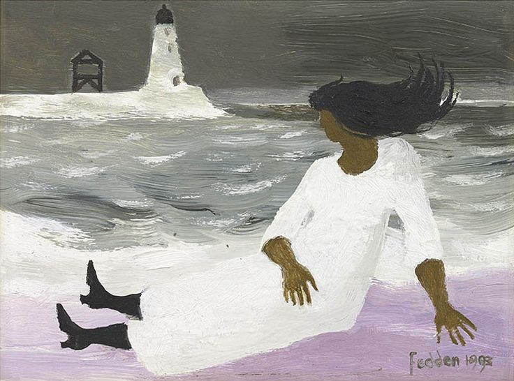 Mary Fedden | Woman and Lighthouse