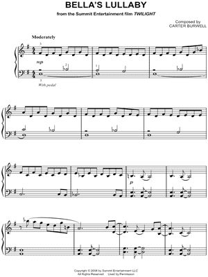 """Bella's Lullaby"" from 'Twilight (Movie)' Sheet Music (Easy Piano) (Piano Solo) - Download & Print"