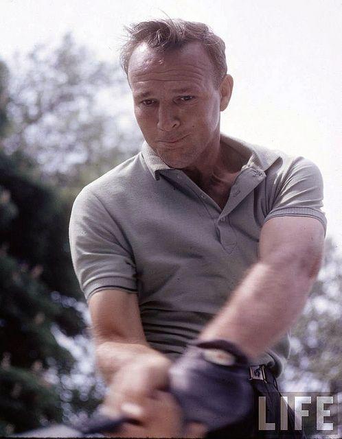 Arnold Palmer, photo taken by John Dominis, 1962.  (SMACKIN the ball!)